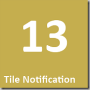 13 Tile Notification