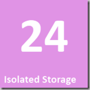 24 Isolated Storage
