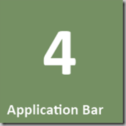 4 Application Bar